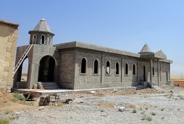 Head of AAC Iraqi Diocese inspects Armenian church construction in N. Iraq