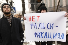 Theatrical criticism staged during Russian embassy in Yerevan