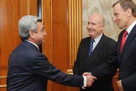 OSCE MG briefs Armenian President on formula of meetings in Baku, Stepanakert