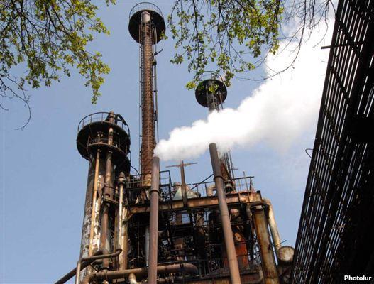 Armenia - The Nairit chemical plant in Yerevan.
