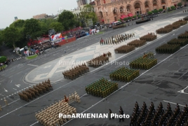 Yerevan becomes declare to showy troops parade