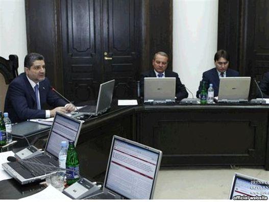 Armenia -- Prime Minister Tigran Sarkisian speaks during a supervision event (file photo)