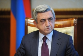 Serzh Sargsyan: Baku incited emigration from Armenia into bound idea