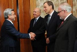 Armenian President, OSCE MG co-chairs plead Karabakh settlement
