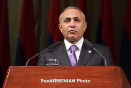 Armenian legislature orator resigns to control choosing headquarters