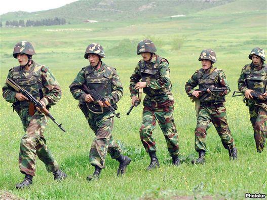 Armenia -- Soldiers reason exercises, undated.