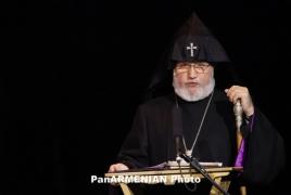 Karekin II, OSCE MG co-chairs plead purpose of church in investiture of peace