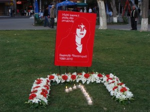 1 year anniversary of Zaruhi Petrosyans genocide 300x225 Mar to Stop Violence Against Women Held in Yerevan