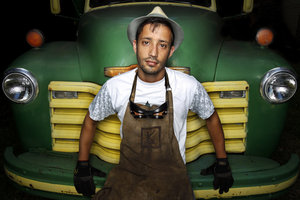 """Kansas City artist Asheer Akram trafficked to Pakistan final year with a extend from a Kansas City-based Lighton International Artists Exchange Program. Inspired by a artfully flashy load trucks he encountered via a country, Akram skeleton to renovate a 1952 Chevy into a """"Midwest meets Pakistan"""" chronicle of a load truck."""