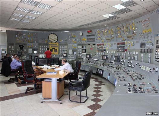 Armenia - The executive control row of a Metsamor chief plant.