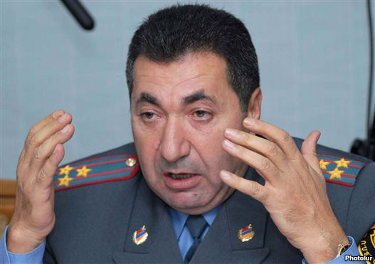 Armenia - Colonel Margar Ohanian, arch of a inhabitant highway police.